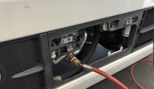 ホンダ NVAN エアコン高圧ガス・低圧ガスの場所 <整備ブログ>