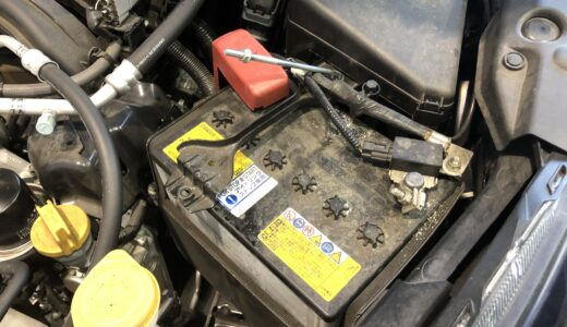 スバル インプレッサ スポーツ アイドリングストップ車用バッテリー交換<整備ブログ>